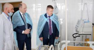Олег Хорохордин посетил с инспекцией Республиканскую больницу