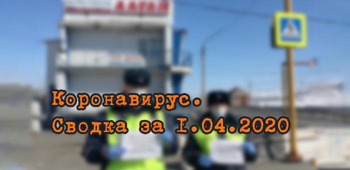 Ситуация с коронавирусом в Республике Алтай. Сводка за 1 апреля