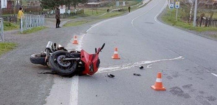 В аварии на Чуйском тракте погиб мотоциклист