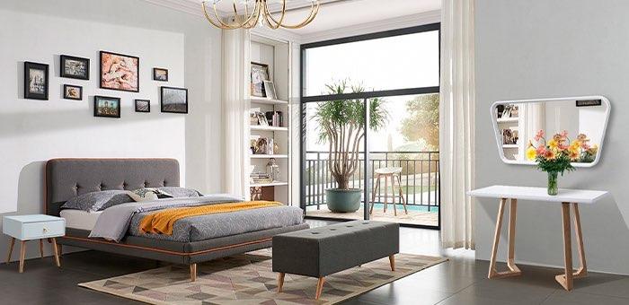 Спальная в стиле Mid Сentury Modern: эстетично, практично, функционально