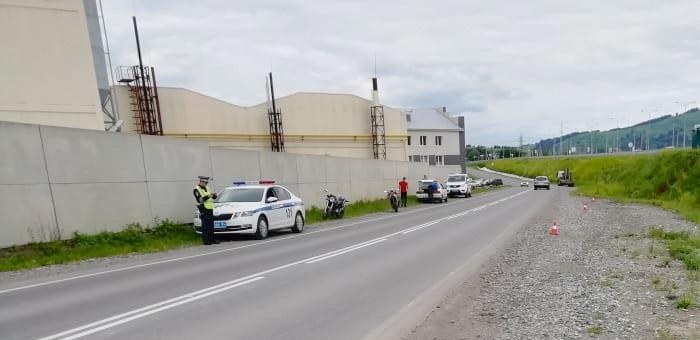 16-летний горожанин перевернулся на мотоцикле возле «Магиса»