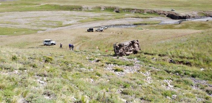 В урочище Бугузун перевернулся УАЗ, водитель погиб