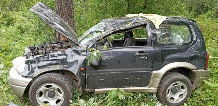 Пьяный барнаулец устроил аварию возле Манжерока