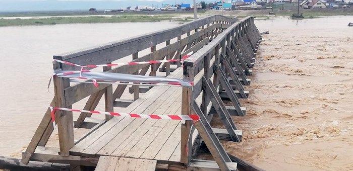 В Кош-Агаче возникла угроза подтопления, размыта дорога на Беляши