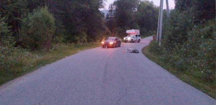 15-летний подросток на мотоцикле врезался в Hyundai Solaris