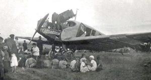 Первый самолет в Горном Алтае
