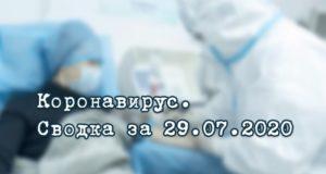 Ситуация с коронавирусом в Республике Алтай. Сводка за 29 июля