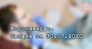 Ситуация с коронавирусом в Республике Алтай. Сводка за 30 июля