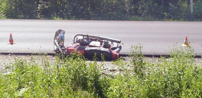 Нетрезвый мотоциклист без прав попал в аварию возле Турочака
