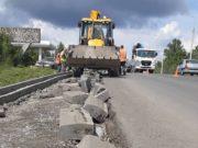 Подрядчика обязали заменить некачественный бортовой камень на подъезде к Горно-Алтайску