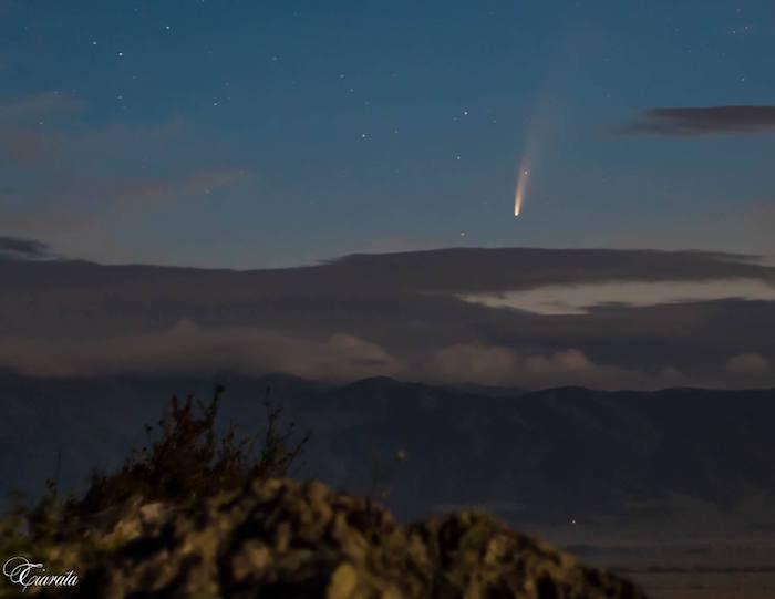 Живописная комета на алтайском небосклоне (фото и видео)