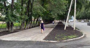 Завершен ремонт тротуара по проспекту Коммунистическому
