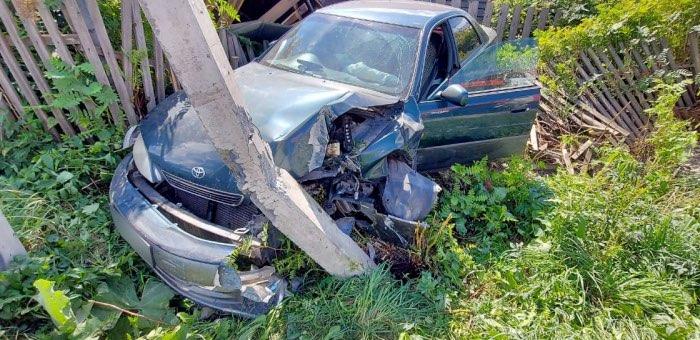 Toyota из Новосибирска разбилась в Соузге из-за неосторожного местного водителя