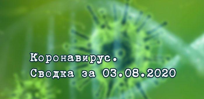 Ситуация с коронавирусом в Республике Алтай. Сводка за 3 августа