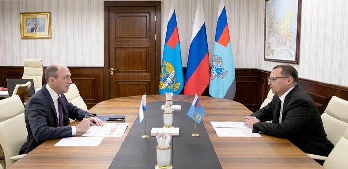 Олег Хорохордин обсудил развитие дорожной сети с руководителем Росавтодора
