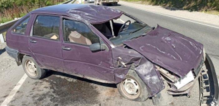 Три автомобиля столкнулись на объездной дороге