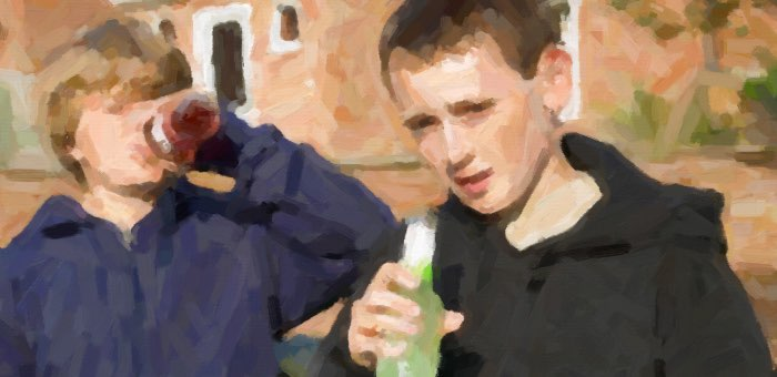 Подростков, распивающих алкоголь, обнаружили во время рейда