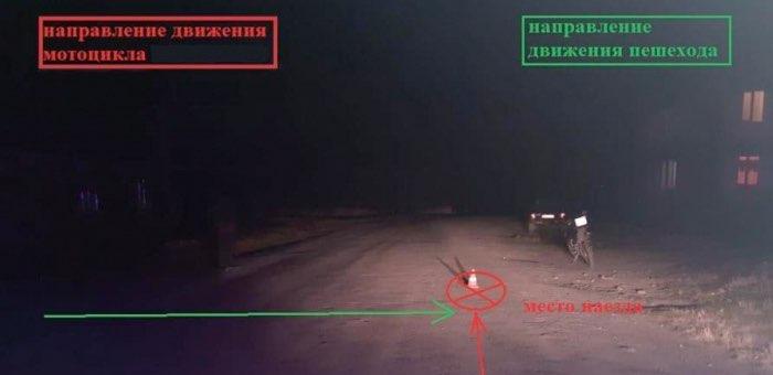 Мотоциклист сбил женщину в Акташе