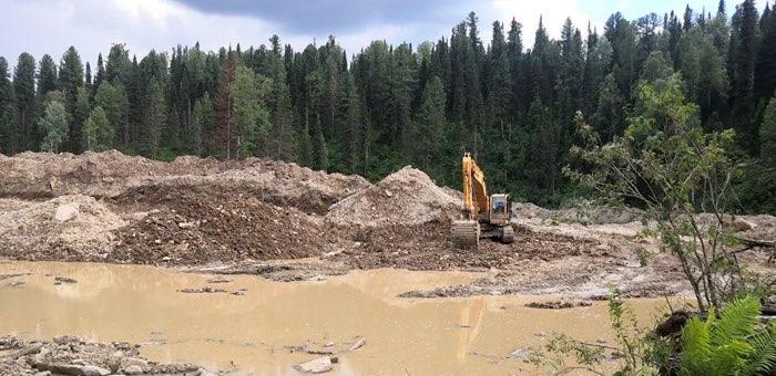 Золотодобытчики загрязняли воду в реке Чулта