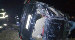 Нетрезвая автоледи ночью перевернулась на Nissan X-Trail