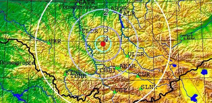 Землетрясение магнитудой 4,0 произошло в Онгудайском районе