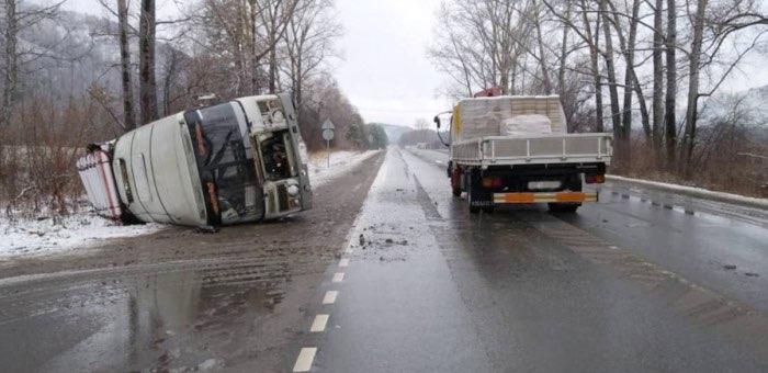 Авария с автобусом около Соузги: в МВД считают, что в ДТП виноват водитель грузовика