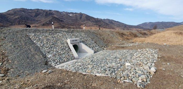 Водопропускные трубы на Чуйском тракте после ремонта прослужат полвека