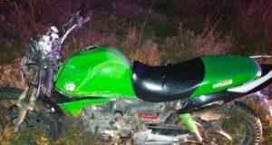 Пьяный подросток на мотоцикле врезался в корову