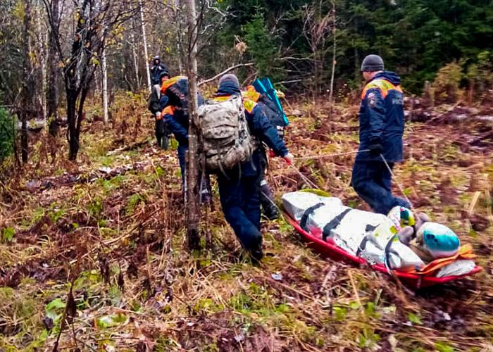 Таежного отшельника, сломавшего ногу, доставили в Турочакскую больницу