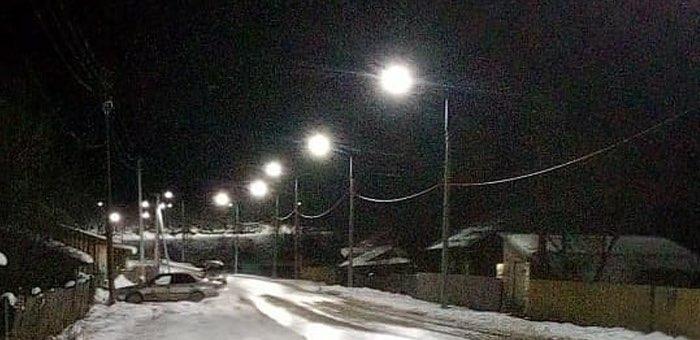В Ынырге появилось уличное освещение
