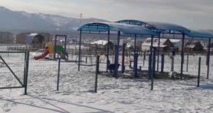 Детскую спортивно-игровую площадку обустроили в Усть-Коксе