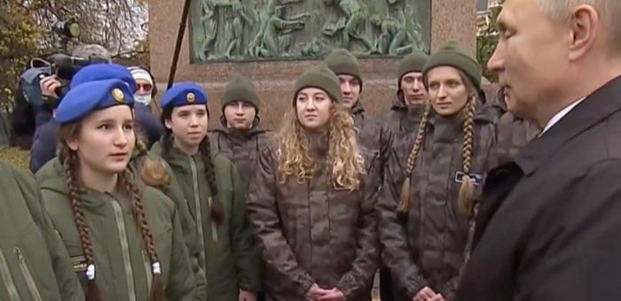 Курсант «Вымпела» Злата Григорьева встретилась с президентом России