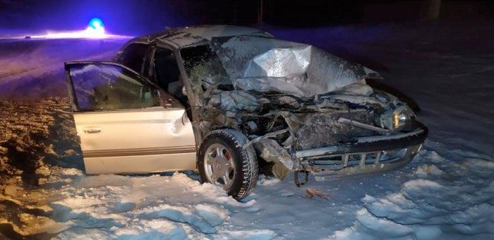 Две ночные аварии произошли в Кош-Агачском районе, два человека попали в больницу