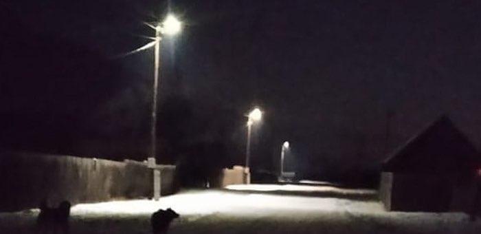 В пяти селах Усть-Коксинского района установлено электроосвещение улиц