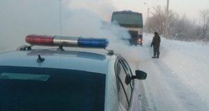 Автобус из Мульты в Барнаул из-за сильных морозов заглох на Чуйском тракте