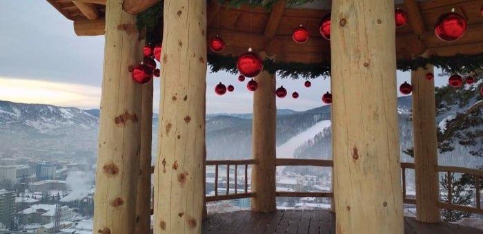 Новогодние праздники на Тугае: жители и гости Горно-Алтайска могут посетить городской панорамный парк