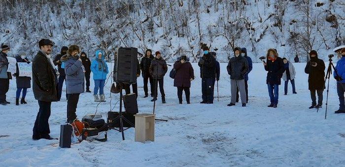 В Горно-Алтайске прошла акция в поддержку Алексея Навального