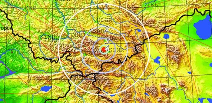 В Кош-Агачском районе произошло землетрясение магнитудой 3,7