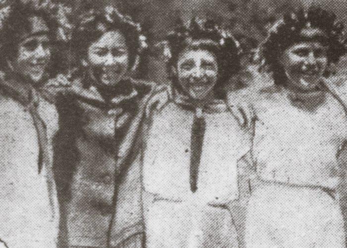 Школьники на детском празднике, Ойрот-Тура, 6 июня 1937 г.