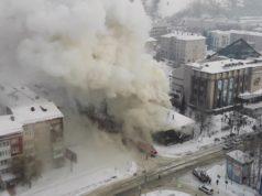 В Горно-Алтайске случился пожар здании вечерней школы, эвакуировано 102 человека
