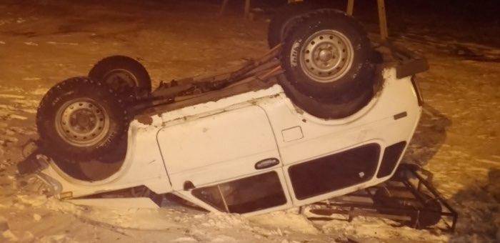 Нетрезвый водитель без прав перевернул машину возле Кумалыра