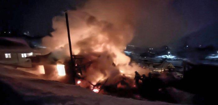 За четыре дня в Республике Алтай произошло девять пожаров