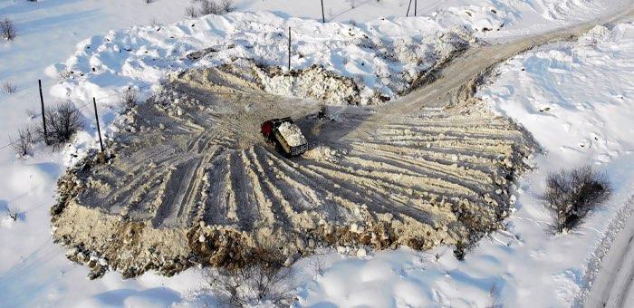 В Горно-Алтайске определено новое место для складирования снега