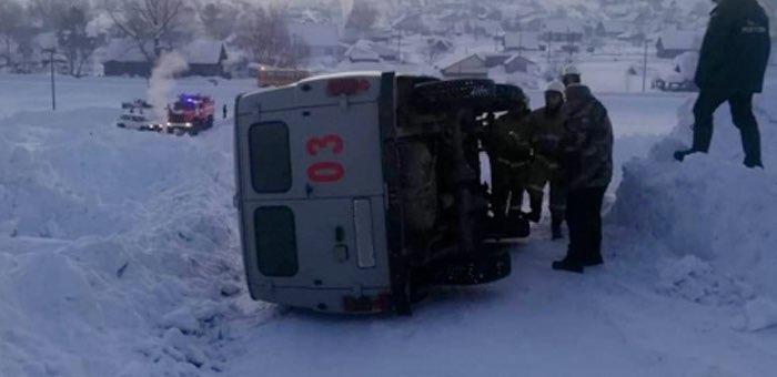 В Чое перевернулся УАЗ – водитель не справился с управлением