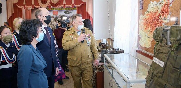 В Горно-Алтайске открыли уголок боевой славы воинов-интернационалистов Республики Алтай