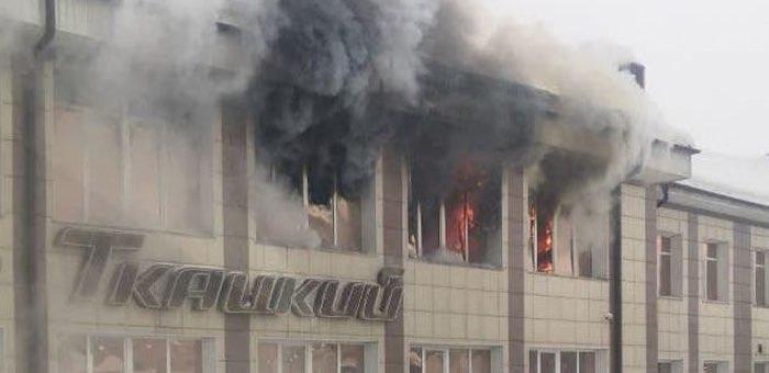 Пожар в торговом центре «Ткацкий-1» (информация обновляется)
