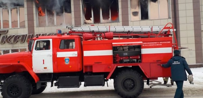 Пожар в торговом центре «Ткацкий-1» ликвидирован