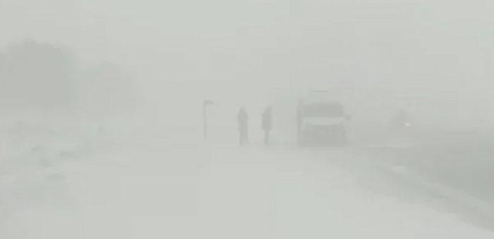 Из-за сильной метели дорога в Джазатор закрыта до 1 марта