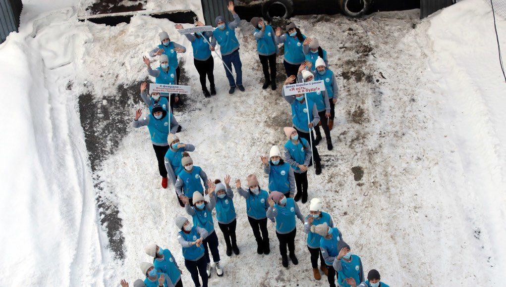 Флешмоб в поддержку онкобольных прошел в Горно-Алтайске