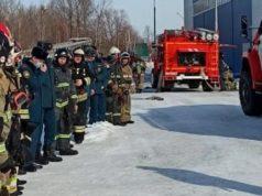 В «Атланте» прошли противопожарные учения